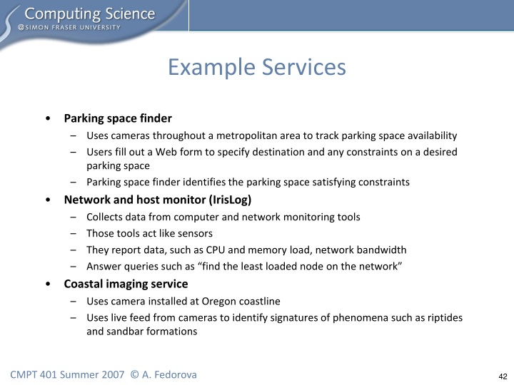 Example Services