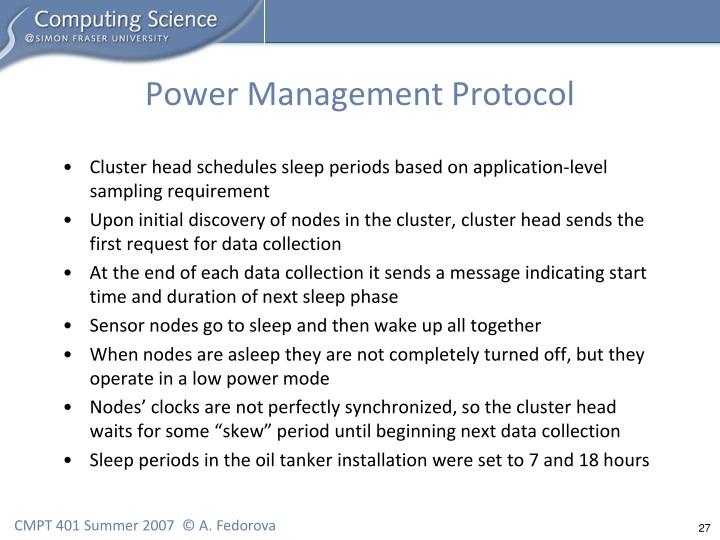 Power Management Protocol
