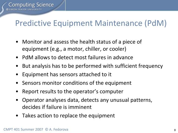 Predictive Equipment Maintenance (