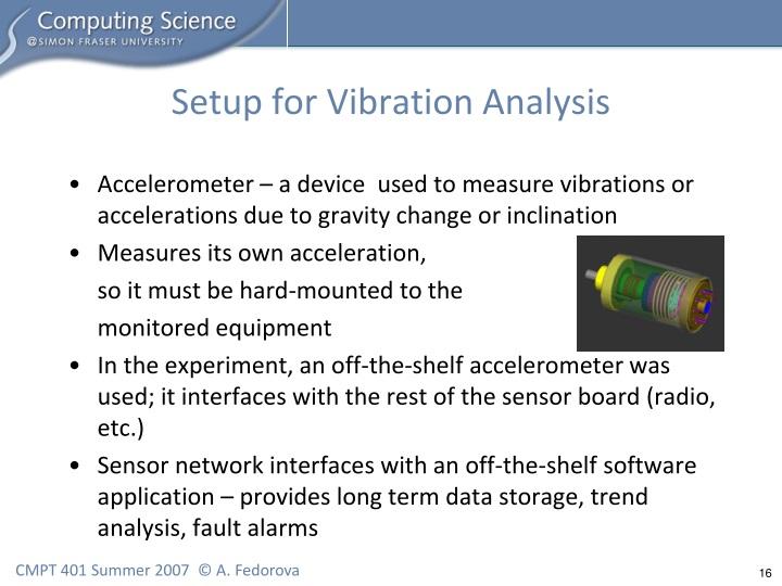 Setup for Vibration Analysis