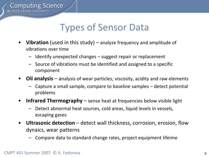 Types of Sensor Data