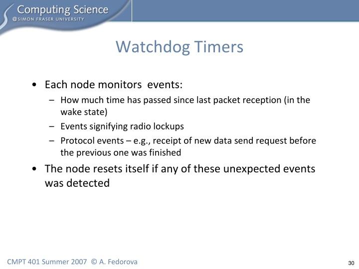 Watchdog Timers
