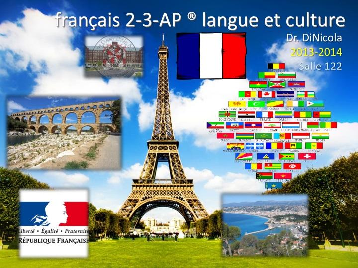 fran ais 2 3 ap langue et culture n.