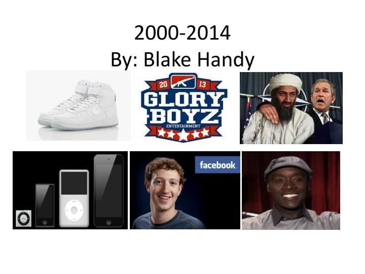 2000 2014 by b lake handy