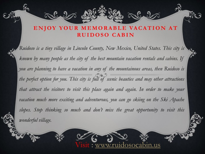 Enjoy your memorable vacation at ruidoso cabin