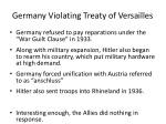 germany violating treaty of versailles