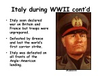 italy during wwii cont d