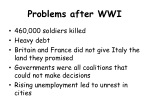 problems after wwi