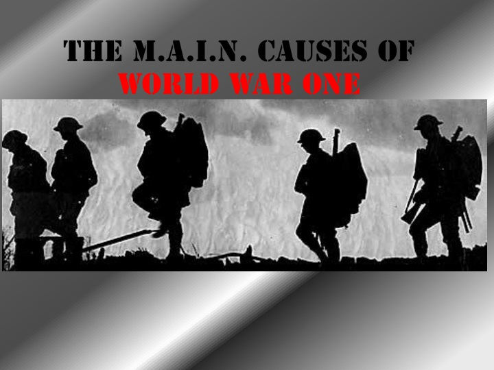 four main reasons of world war i Please give me a simple explanation about each cause of world war i.