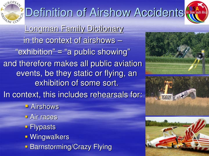 Definition of Airshow Accidents