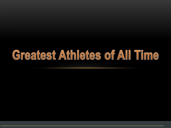 greatest athletes of all time n.
