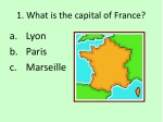 1 what is the capital of france