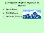 3 what is the highest mountain in france