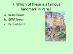 7 which of these is a famous landmark in paris