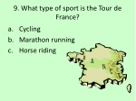 9 what type of sport is the tour de france