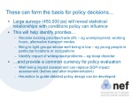 these can form the basis for policy decisions