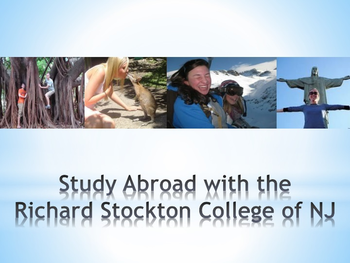 Study abroad with the richard stockton college of nj