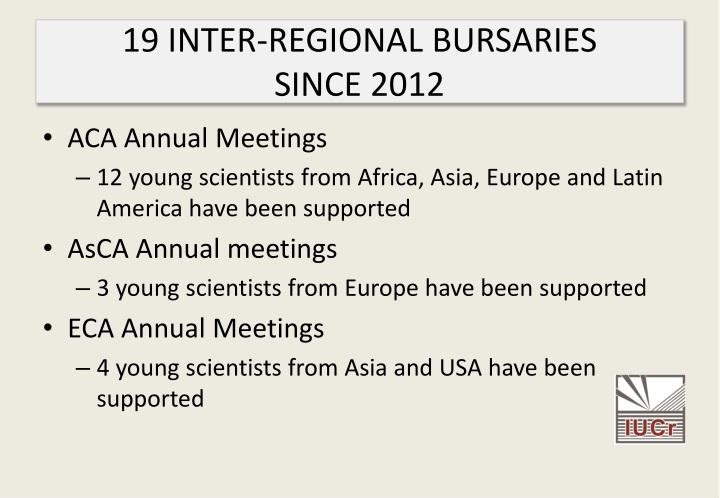 19 INTER-REGIONAL BURSARIES