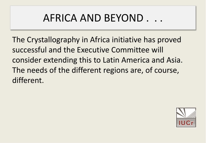 AFRICA AND BEYOND .  . .
