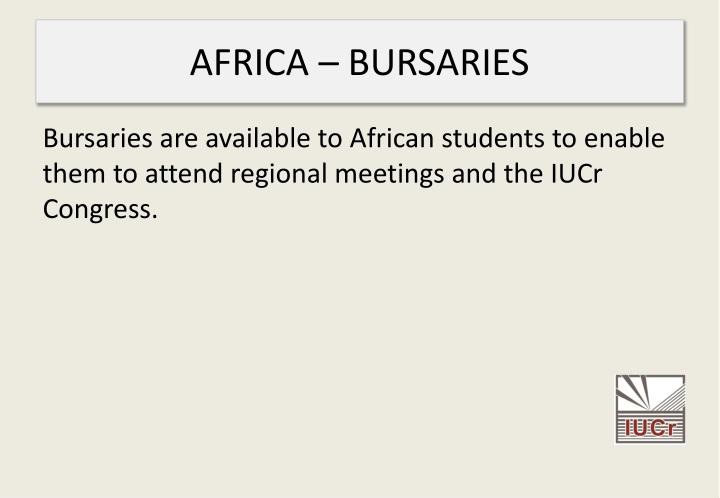 AFRICA – BURSARIES