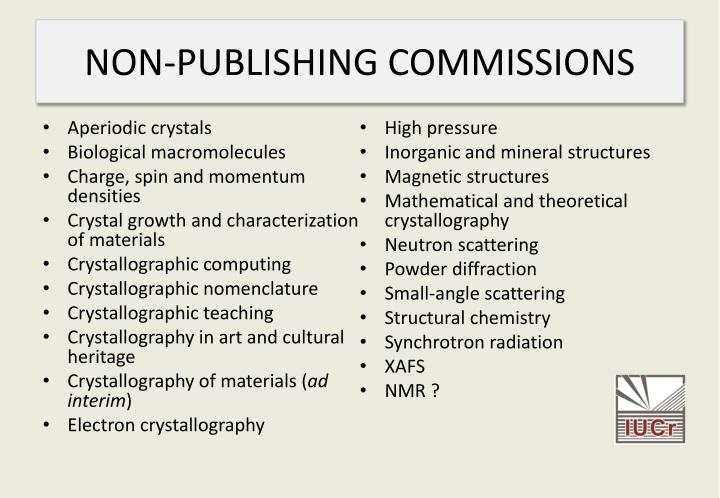 NON-PUBLISHING COMMISSIONS