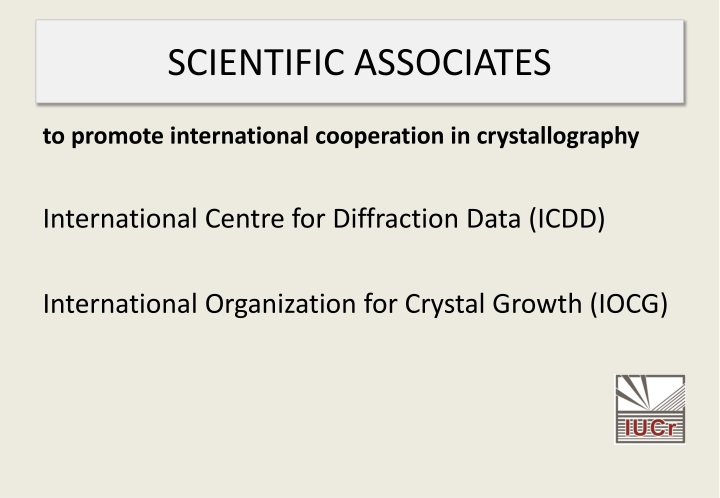 SCIENTIFIC ASSOCIATES