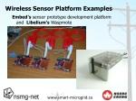 wireless sensor platform examples