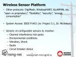 wireless sensor platform1