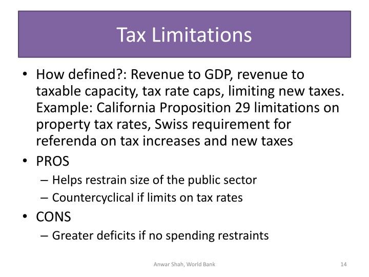 Tax Limitations