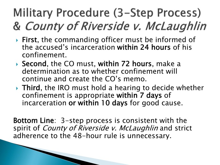 Military Procedure (3-Step Process) &