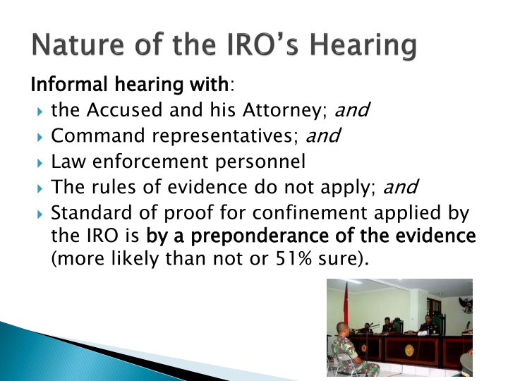Nature of the IRO's Hearing