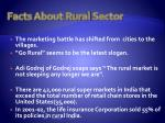 facts about rural s ector