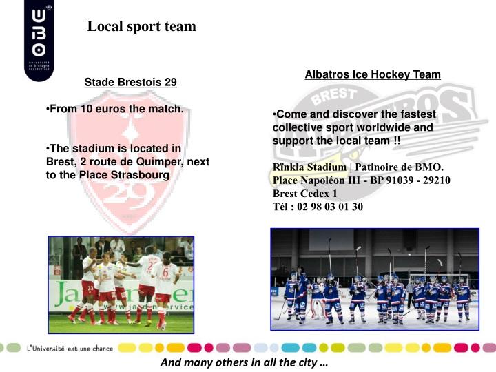 Local sport team