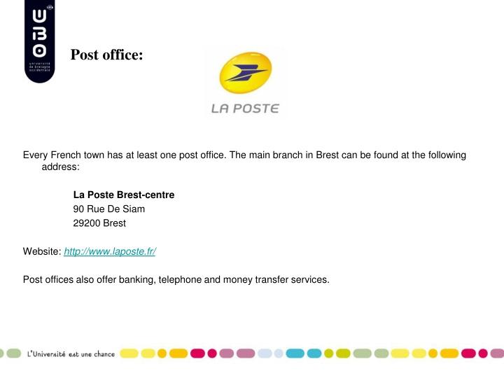 Post office:
