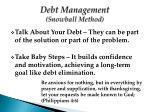 debt management snowball method2