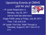 upcoming events at omhs just for you