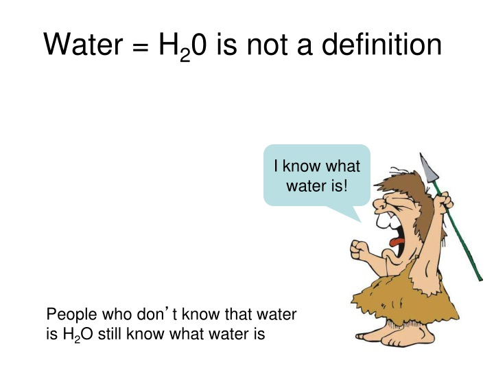 Water = H
