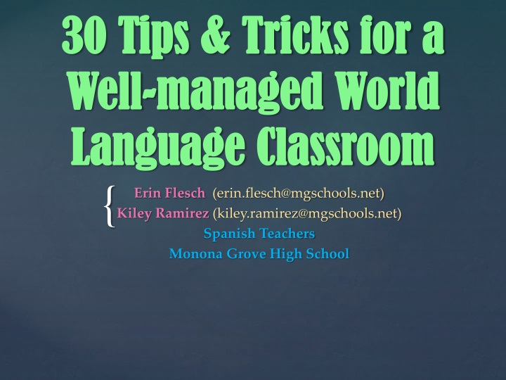 30 tips tricks for a well managed world language classroom n.