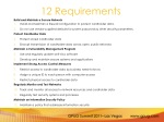 12 requirements