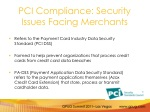 pci compliance security issues facing merchants