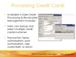 processing credit cards