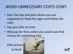 avoid unnecesary costs cont