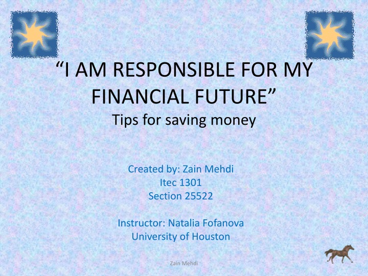 i am responsible for my financial future tips for saving money n.