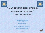 i am responsible for my financial future tips for saving money