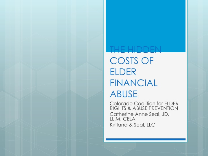 the hidden costs of elder financial abuse n.