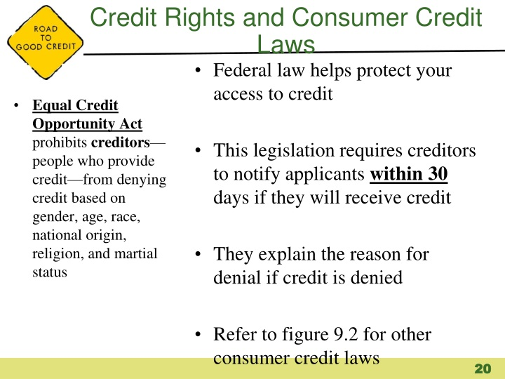 Credit Rights and Consumer Credit Laws