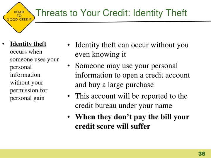 Threats to Your Credit: Identity Theft