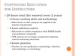 continuing education for instructors