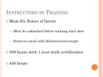 instructors in training