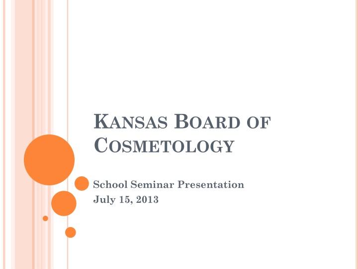 kansas board of cosmetology n.